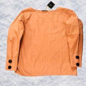 ZARA Poplin Puff sleeve blouse